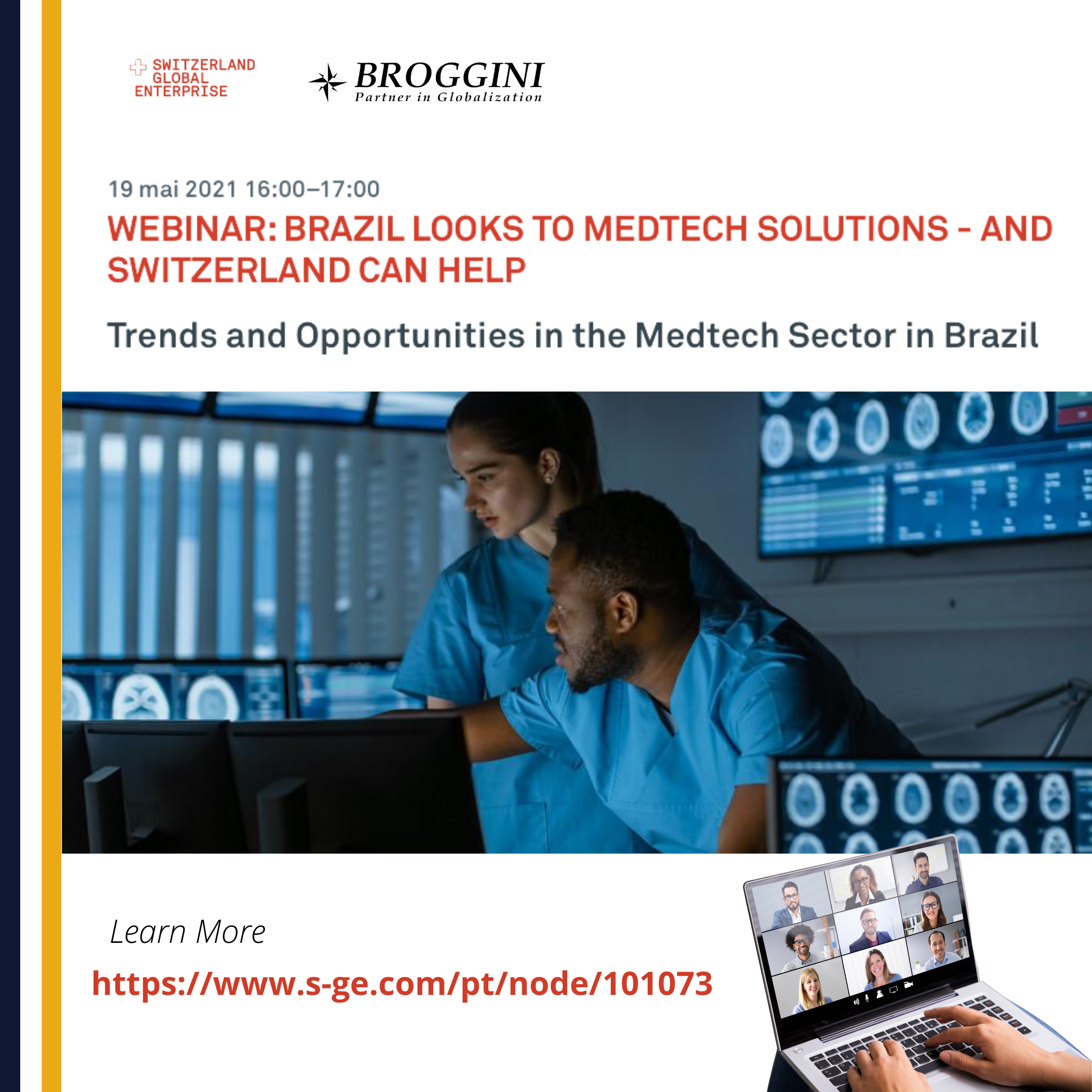 Webinar: Brazil Looks to Medtech Solutions, and Switzerland can Help